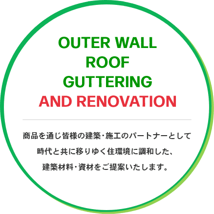 OUTER WALL ROOF GUTTERING AND RENOVATION